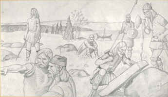 Vikings drawing by Margie Hamen - click on this picture to see a larger view and use your browser's Back button to return