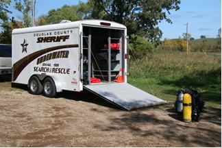 Douglas County Sheriff's Office underwater search and rescue trailer